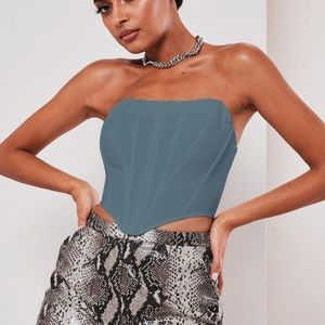 missguided blue corset